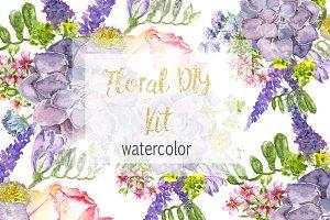 Watercolor Floral DIY KIt