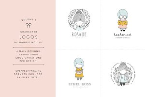 Character Logos Vol. 1 EPS PSD PNG