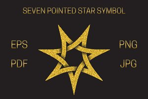 Seven pointed star symbol