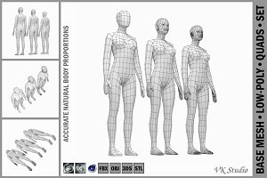 Female Base Mesh Natural Proportions