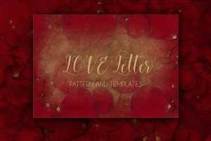 LOVE Letter PATTERN and TEMPLATES