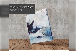 Minimalist Canvas Frame Mock-Up