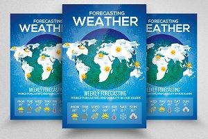 Weather Week Report Flyer Templates