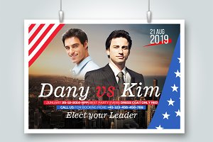 Vote For Us Elections Flyer Template