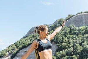 Success athlete woman