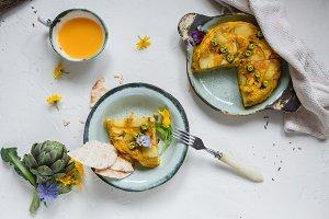 Spanish tortilla or potato omelette