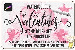 Watercolour Valentines Stamp Set