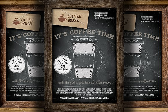 Coffee Shop Promotion Flyer Template Flyer Templates Creative Market