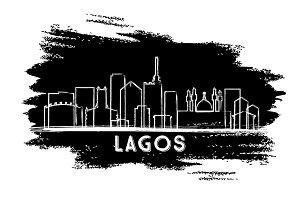Lagos Nigeria City Skyline Silhouett