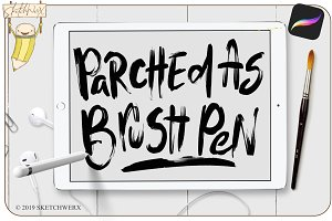 Parched As Brush Pen - Procreate