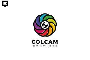 Colorful Circle Camera Logo