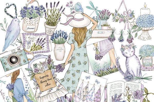 Lavender Spring clip art
