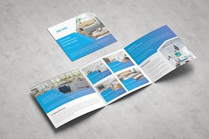 Real Estate Square Tri fold Brochure