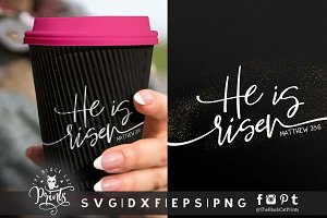 He is risen | Easter SVG DXF EPS PNG
