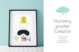 Nursery Creator. Cute Poster, cards
