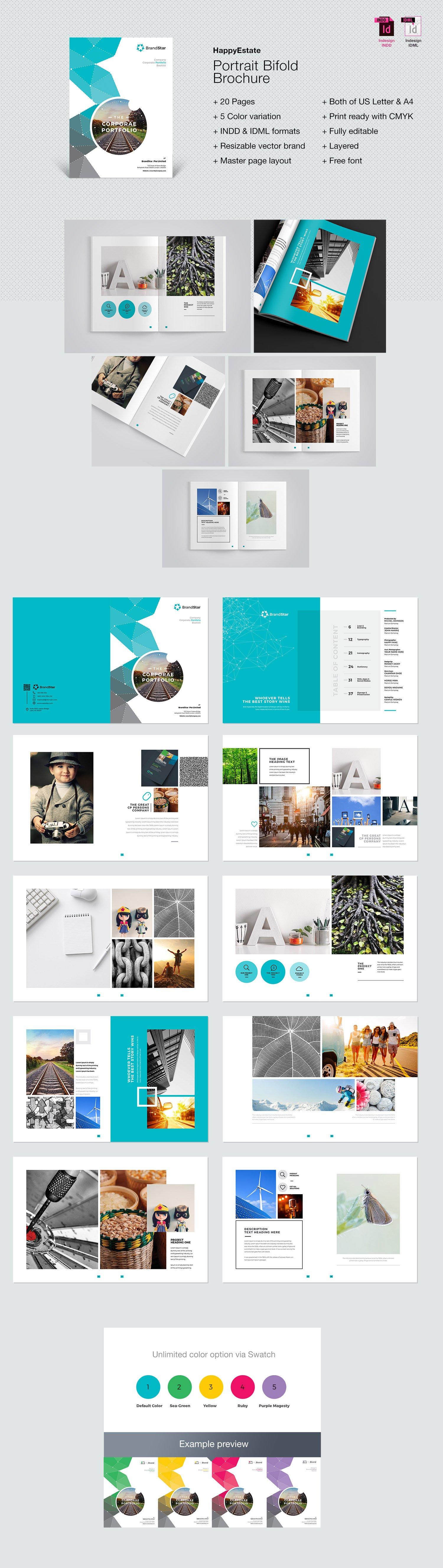 دانلود مجموعه قالب های ایندیزاین بروشورهای تجاری و تبلیغاتی متنوع (پکیج طلایی 13)