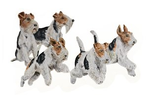 Oil Painting Set of Terrier Dogs