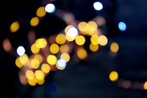 Abstract shiny gold bokeh background