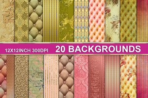20 textured backgrounds craft paper