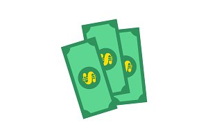 Banknotes of Green Color, Vector
