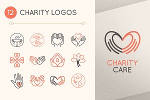 12 charity and volunteer logos