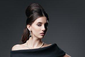 Retro shot: beautiful young woman