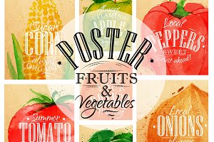 Poster Fruits & Vegetables