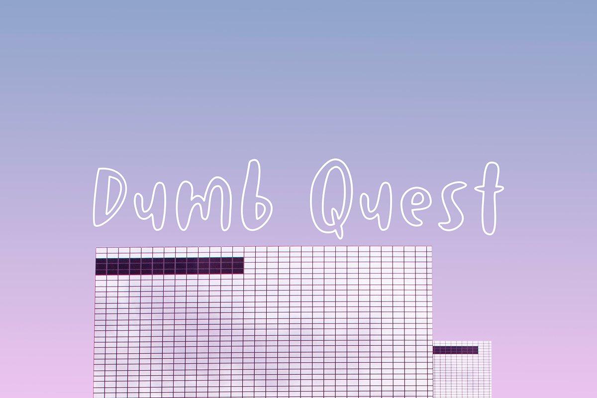 Dumb Quest Handwritten Outline Font