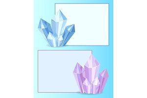 Blue and Purple Crystals Gemstones