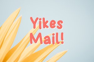 Yikes Mail Rounded Font