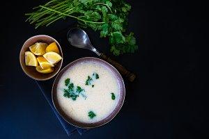 Georgian chicken soup chikhirtma