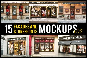 15 Facades and StoreFrontsV2 MockUps
