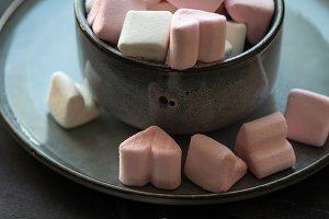 St. Valentines heart marshmallow