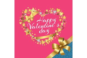 Happy Valentines Day Inscription in
