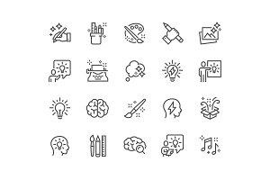 Line Creativity Icons