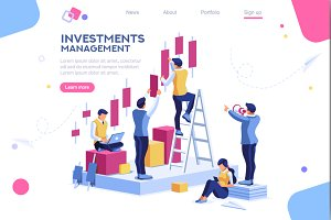 Isometric Ambition Concept Vector