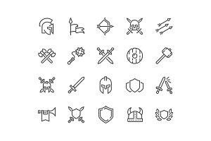 Line Archaic War Icons
