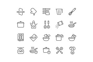 Line Cooking Icons