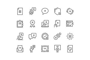 Line Reject Icons