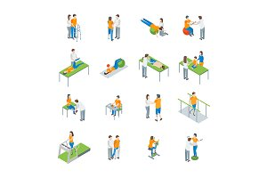Physiotherapy People 3d Set