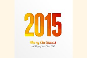 Vector Happy New Year 2015 colorful