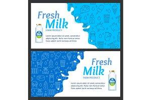 Fresh Milk Banner  Set