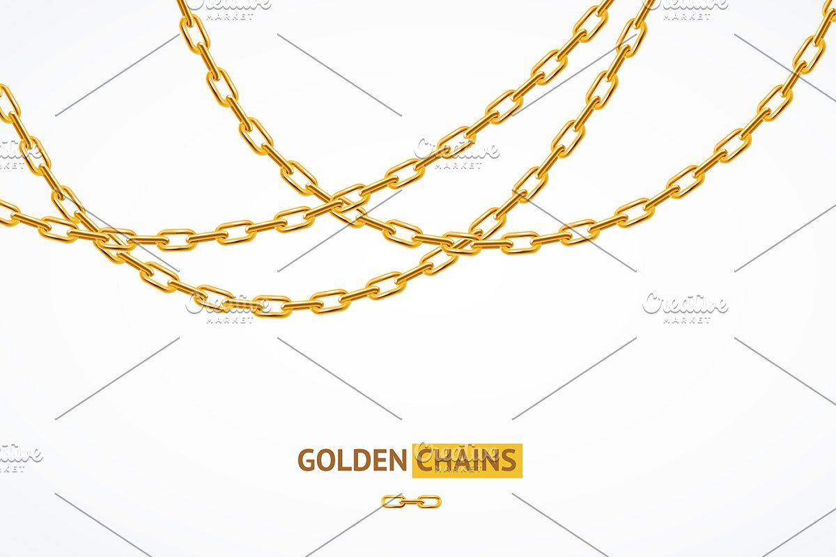 Golden Chain Background Card