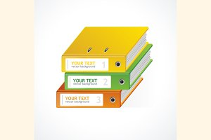 Binders Vector 123 infographics