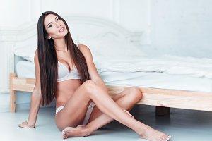 Gorgeous sexy woman in underwear