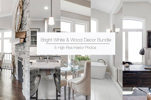 Bright White & Wood Decor Bundle