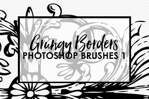 Grungy Borders Brushes & Stamps 1