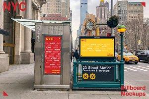 NYC Newsstand Mockup