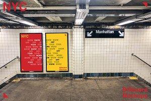 NYC Subway Digital Screens Mockup