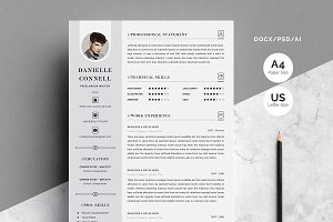 Resume/Cv-4 Pages Pack